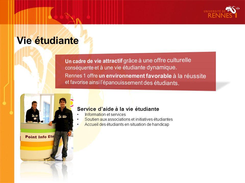 Vie étudiante Un cadre de vie attractif grâce à une offre culturelle conséquente et à une vie étudiante dynamique.