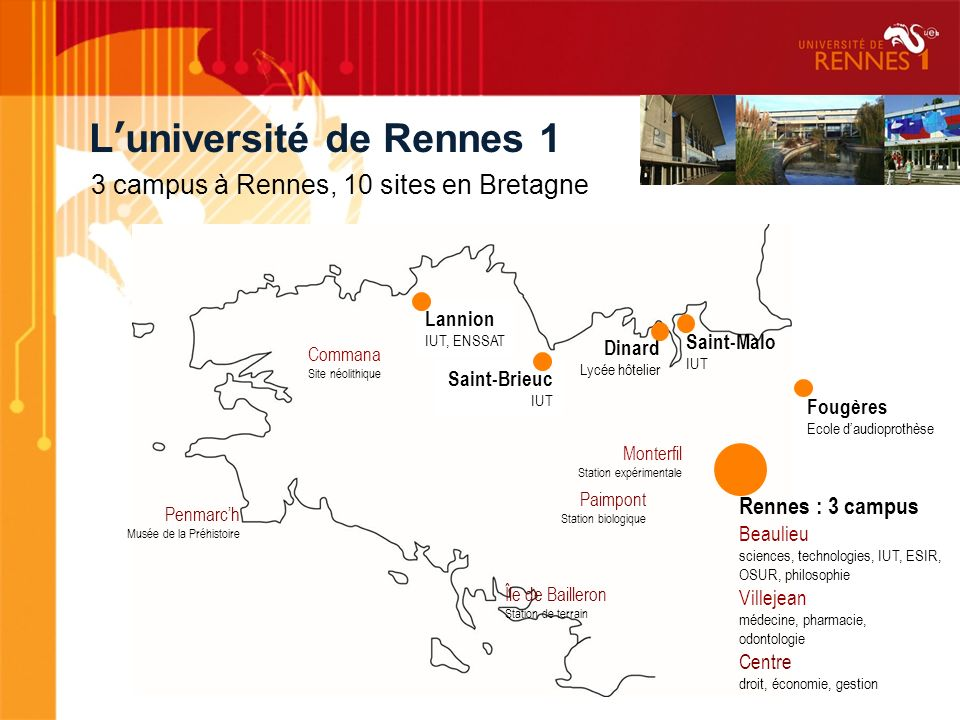 L'université de Rennes 1