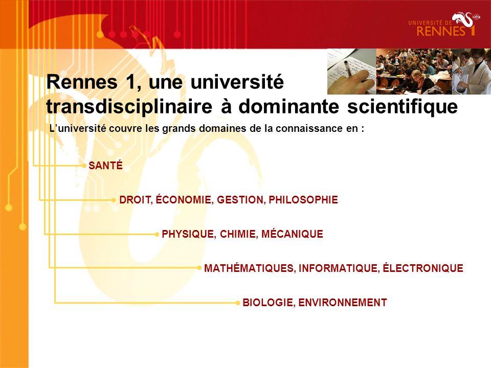 Rennes 1, une université transdisciplinaire à dominante scientifique