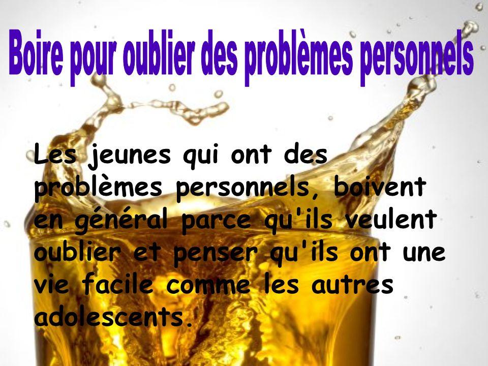 Boire pour oublier des problèmes personnels