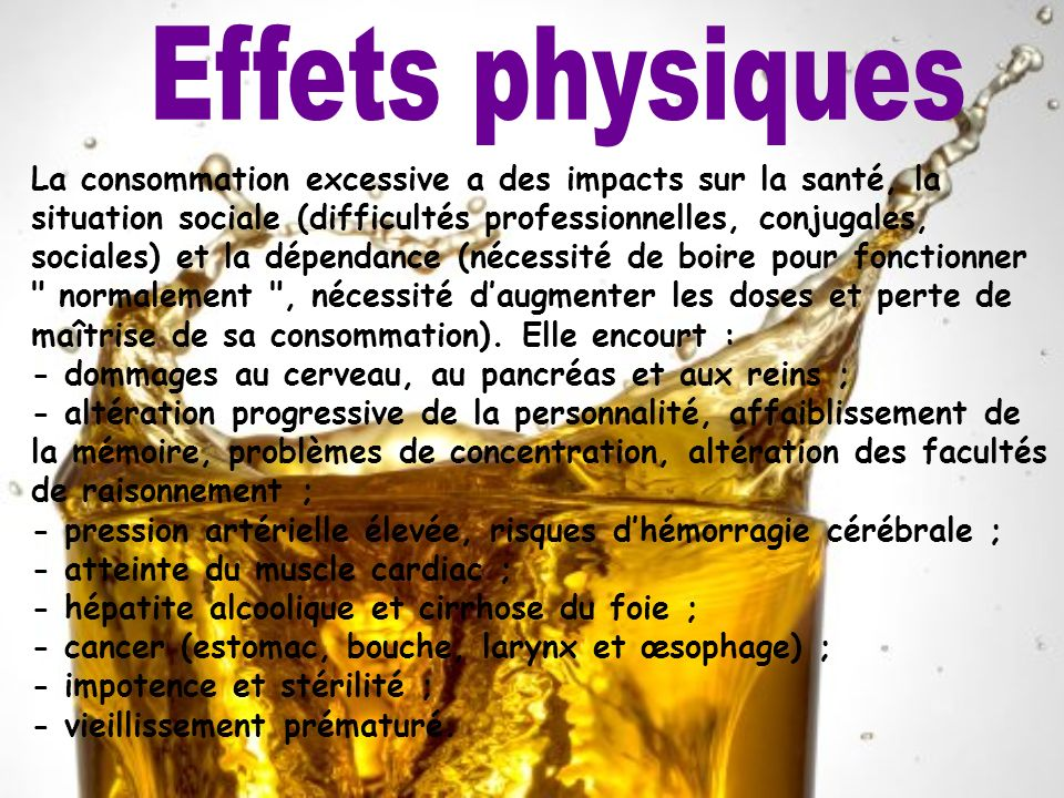 Effets physiques