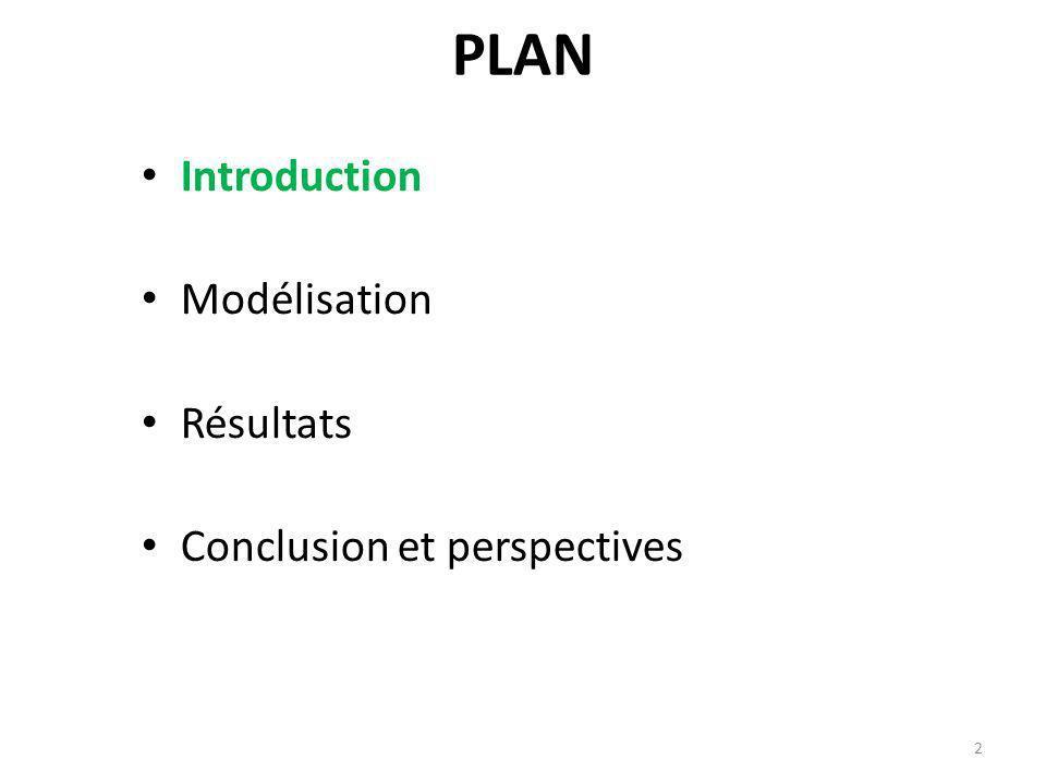 PLAN Introduction Modélisation Résultats Conclusion et perspectives 2