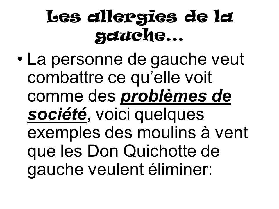 Les allergies de la gauche…