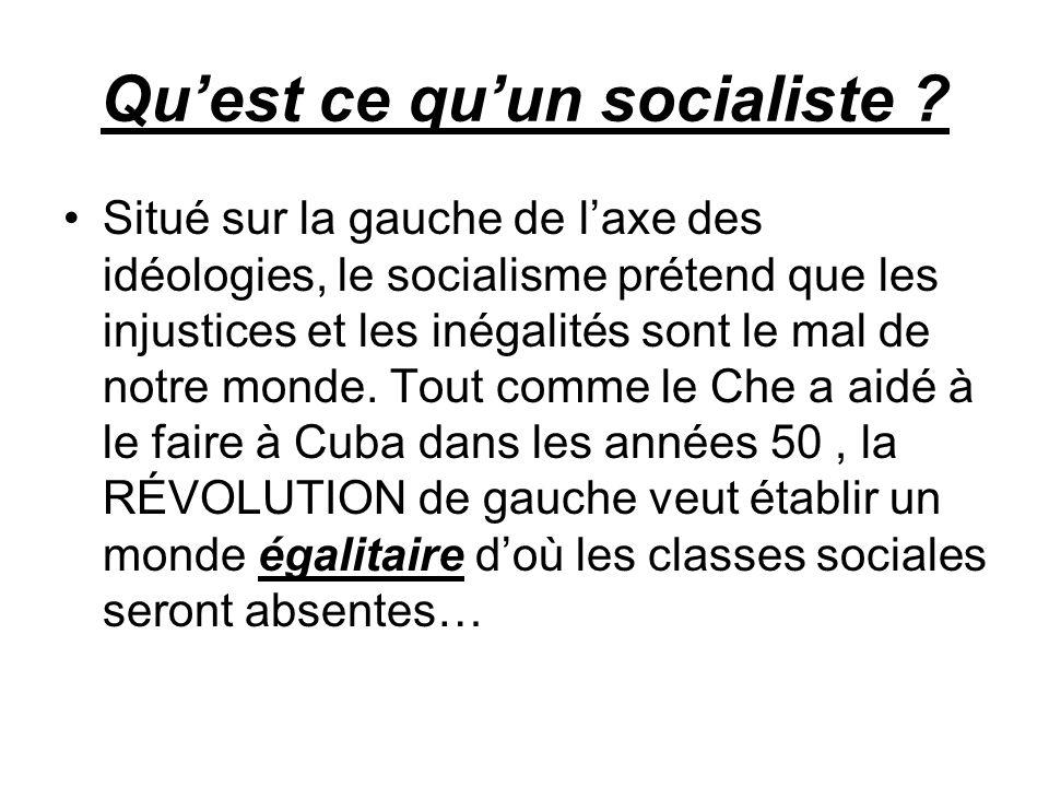 Qu'est ce qu'un socialiste