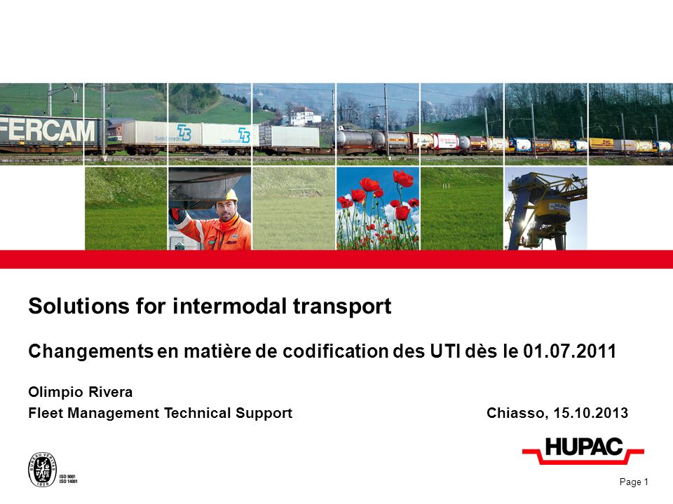 Solutions for intermodal transport