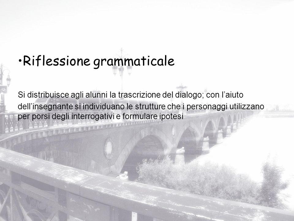 Riflessione grammaticale