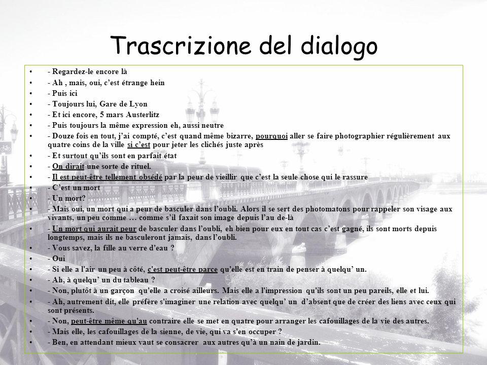 Trascrizione del dialogo