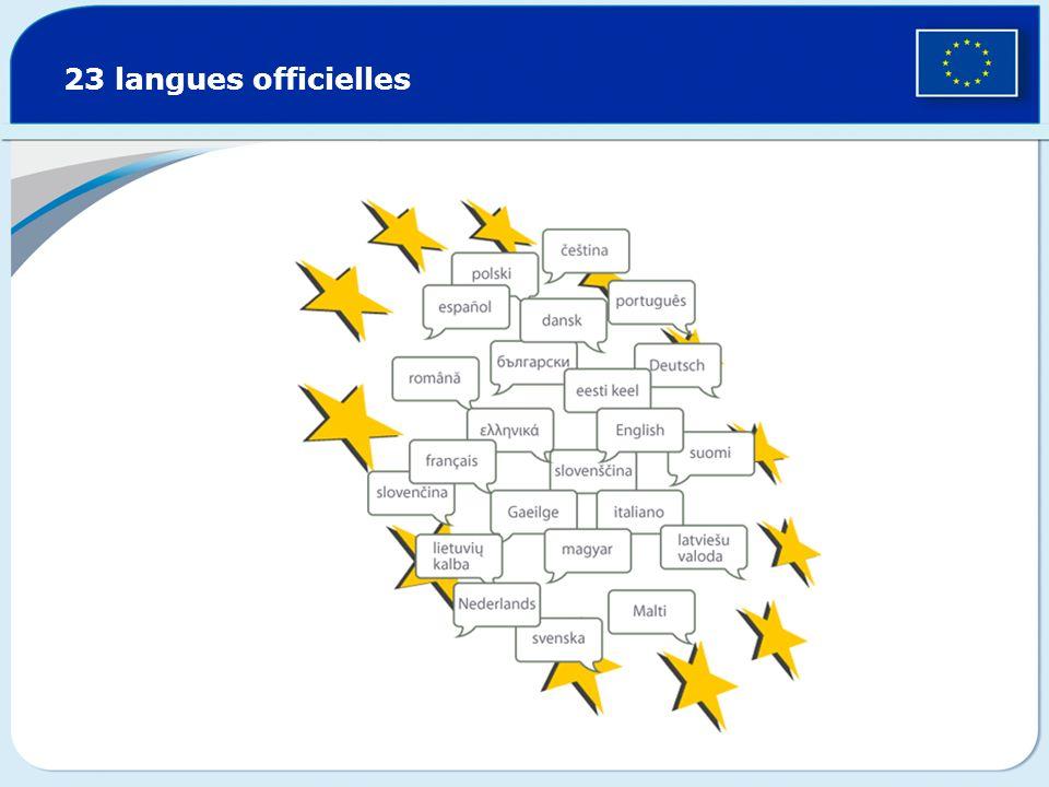 23 langues officielles