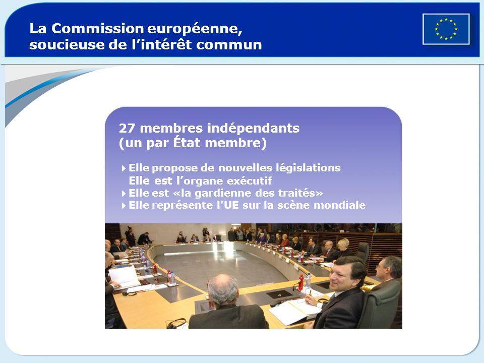 La Commission européenne, soucieuse de l'intérêt commun