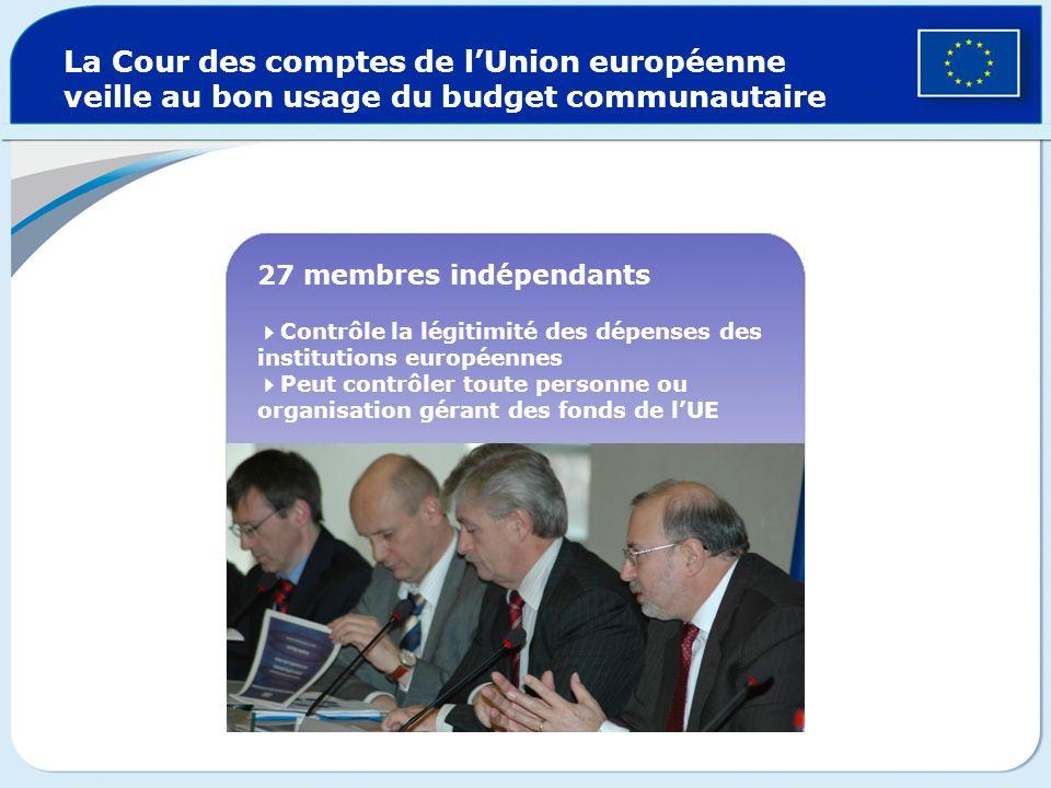 La Cour des comptes de l'Union européenne veille au bon usage du budget communautaire