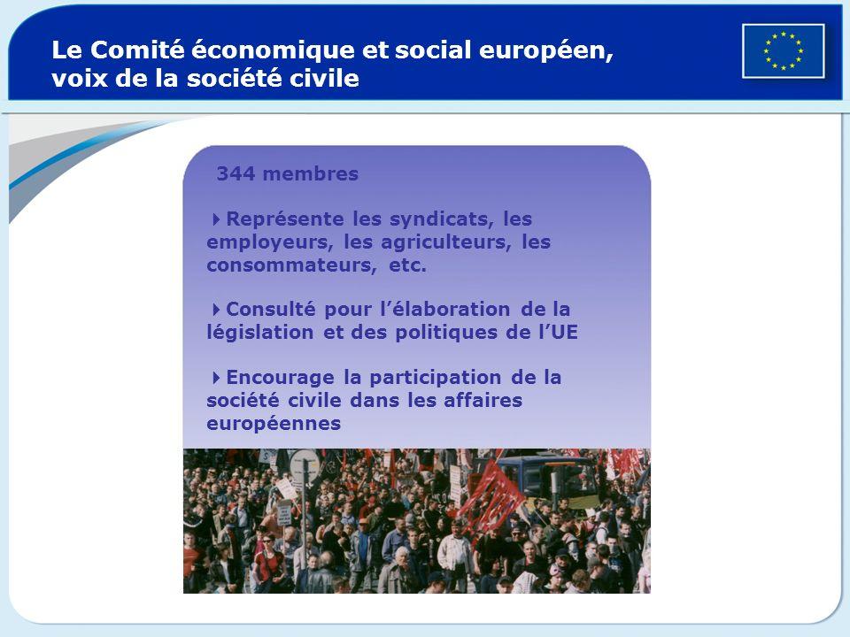Le Comité économique et social européen, voix de la société civile