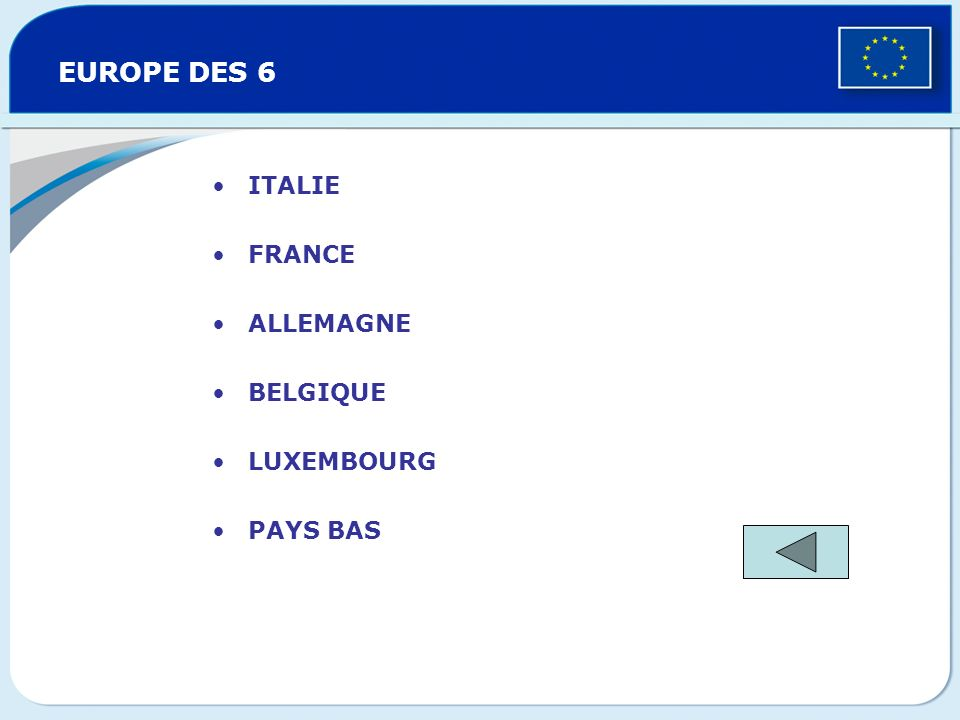 EUROPE DES 6 ITALIE FRANCE ALLEMAGNE BELGIQUE LUXEMBOURG PAYS BAS
