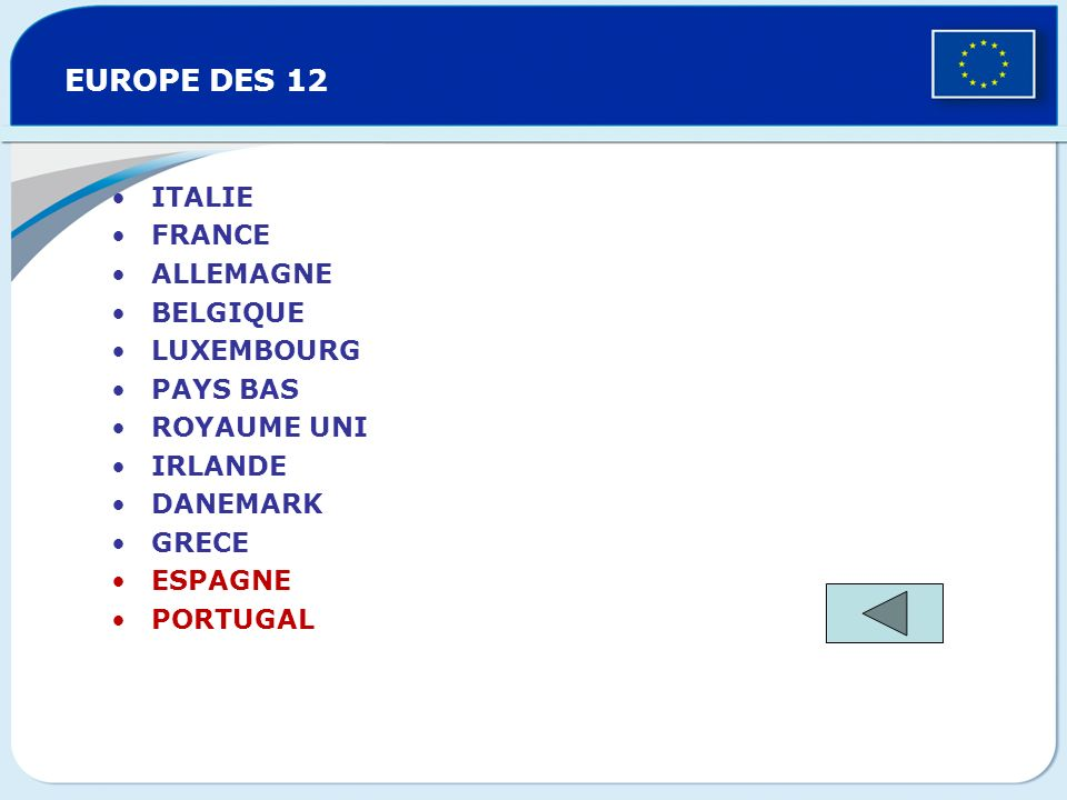 EUROPE DES 12 ITALIE FRANCE ALLEMAGNE BELGIQUE LUXEMBOURG PAYS BAS