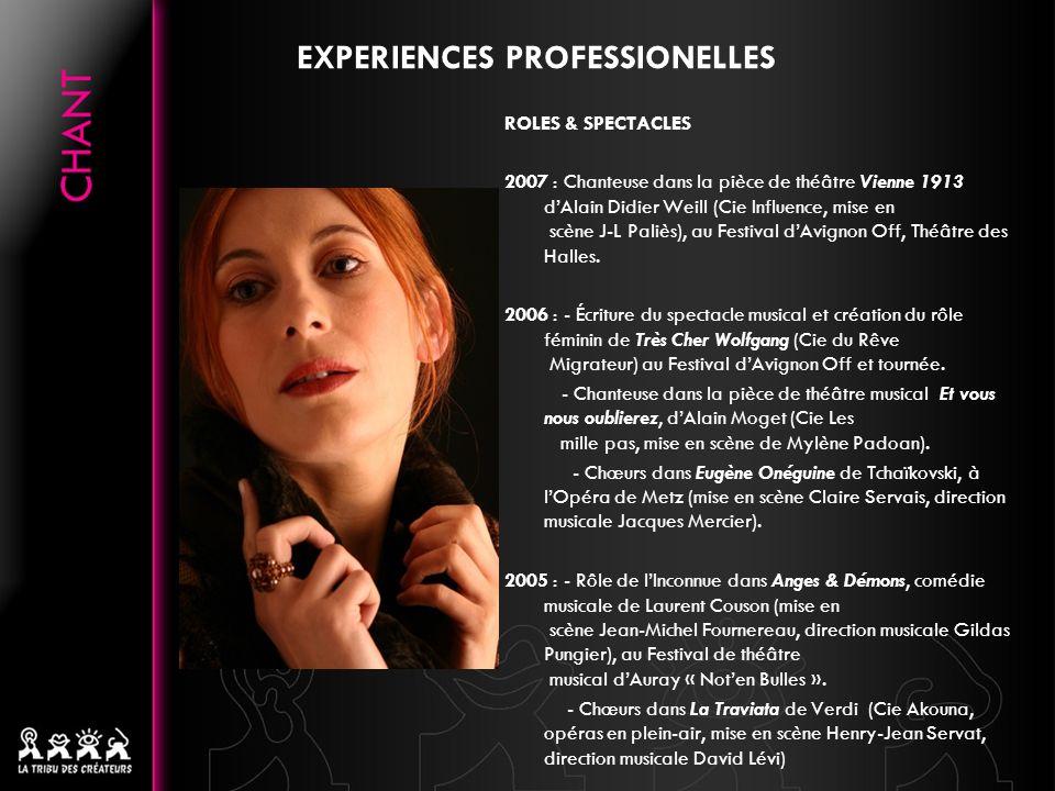 EXPERIENCES PROFESSIONELLES