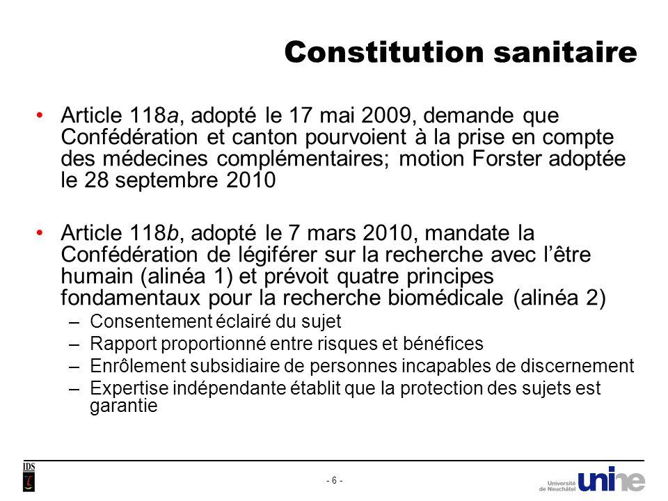 Constitution sanitaire