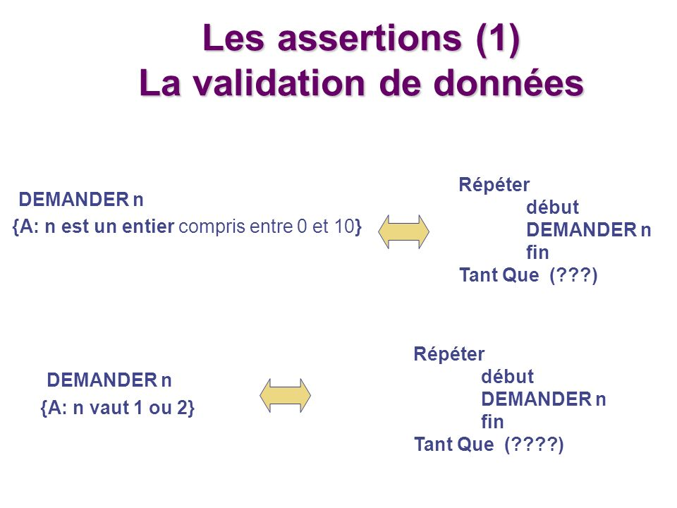 La validation de données
