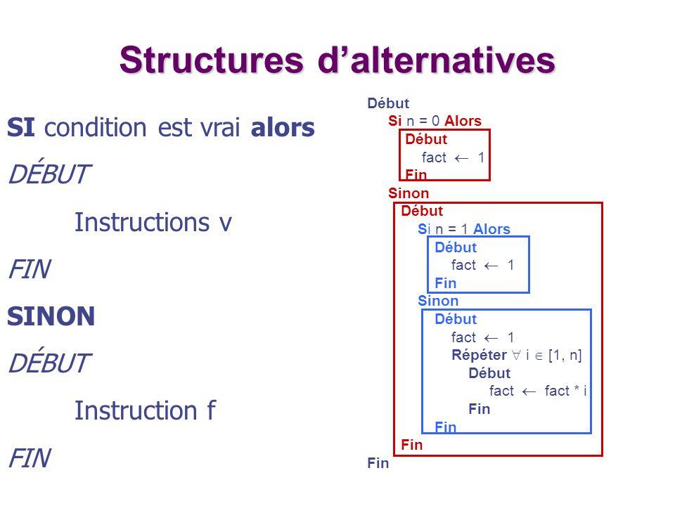 Structures d'alternatives