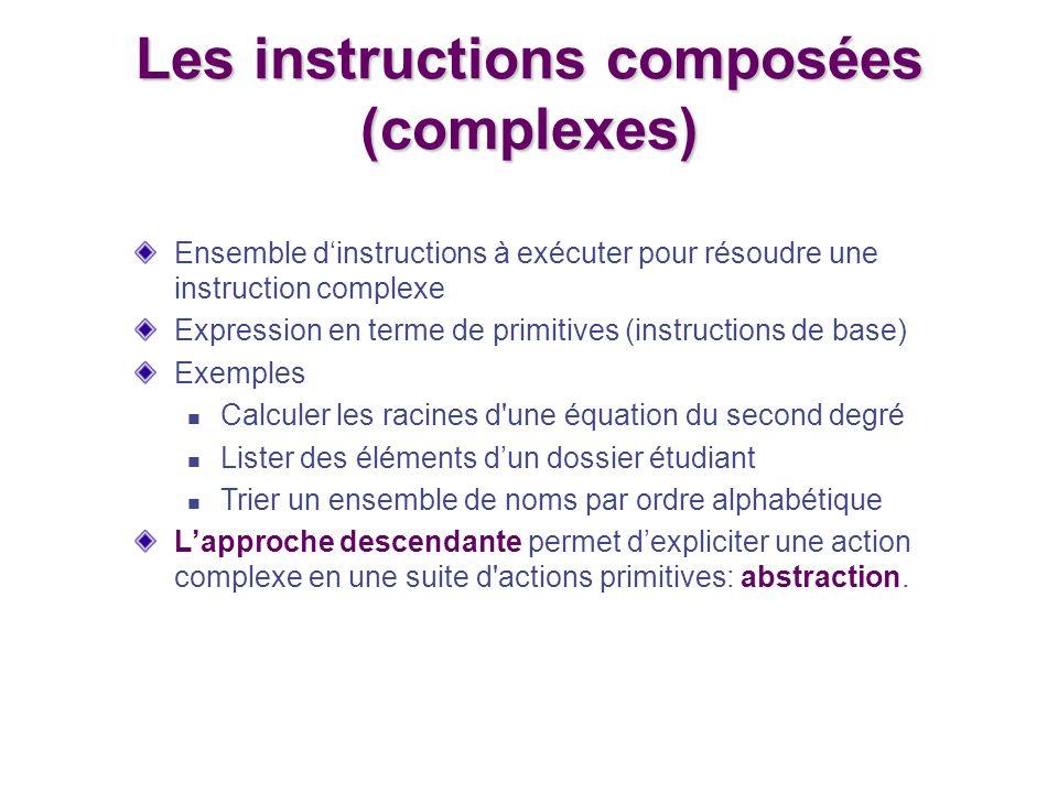 Les instructions composées (complexes)