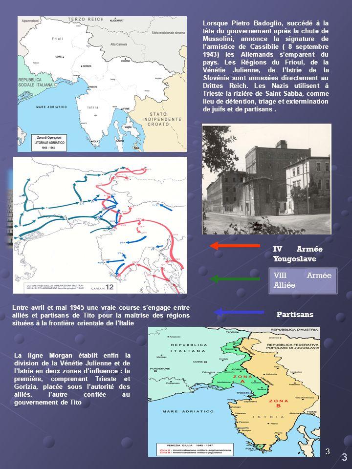 3 IV Armée Yougoslave VIII Armée Alliée Partisans