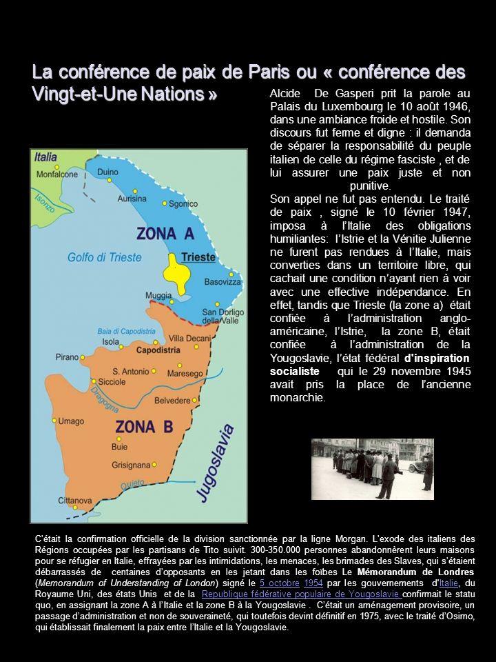 La conférence de paix de Paris ou « conférence des Vingt-et-Une Nations »