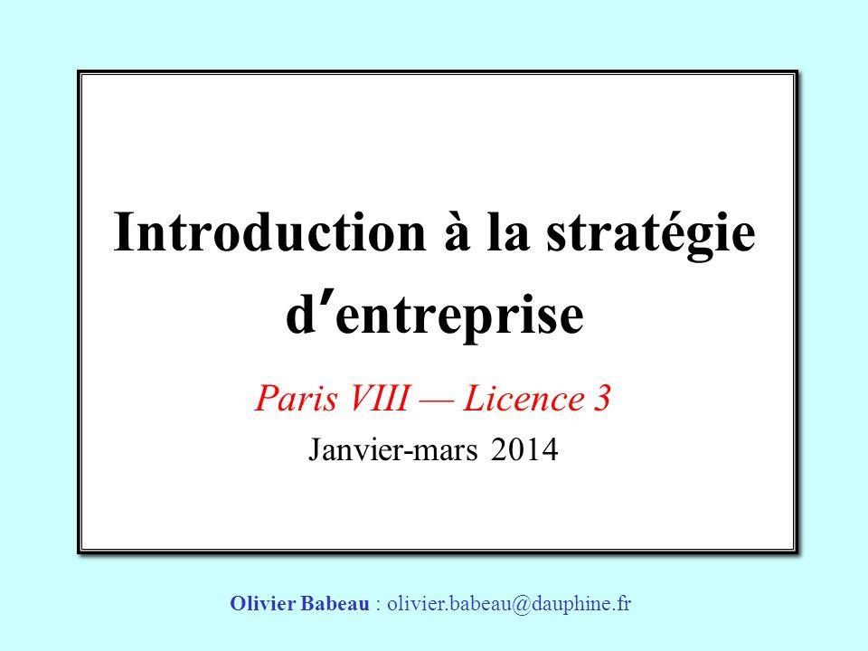 Introduction à la stratégie d'entreprise