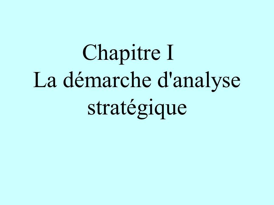 Chapitre I La démarche d analyse stratégique