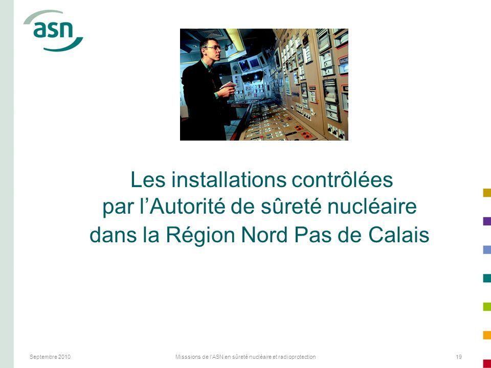 Les installations contrôlées par l'Autorité de sûreté nucléaire