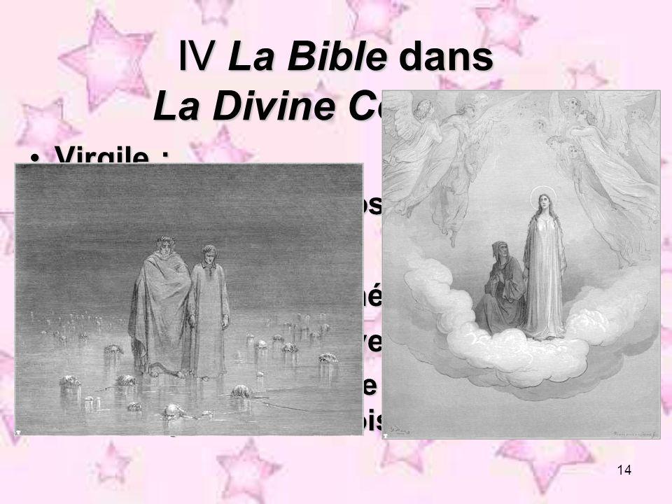 Ⅳ La Bible dans La Divine Comédie