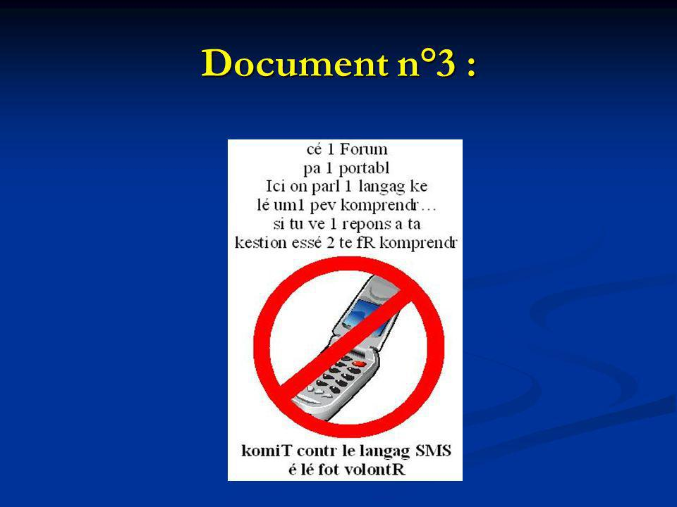 Document n°3 :