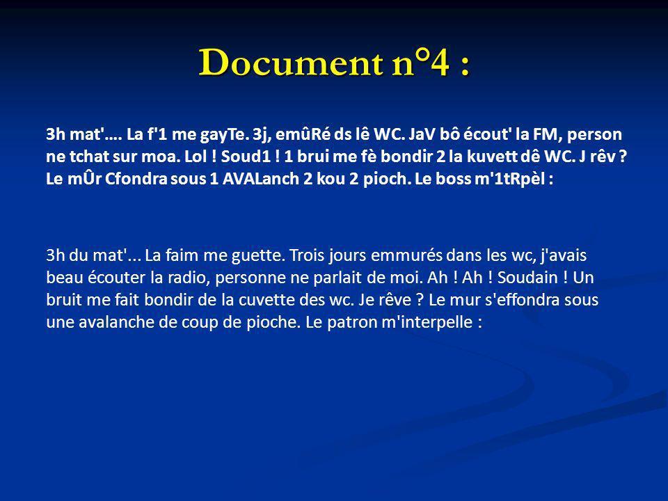 Document n°4 :