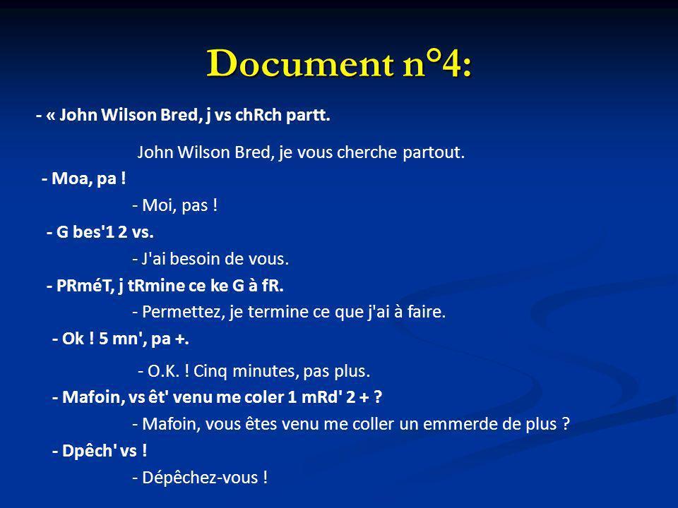 Document n°4: - « John Wilson Bred, j vs chRch partt.
