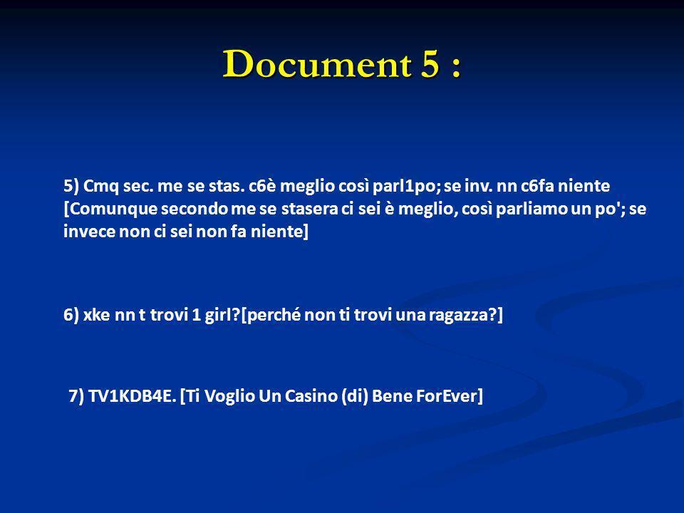 Document 5 :