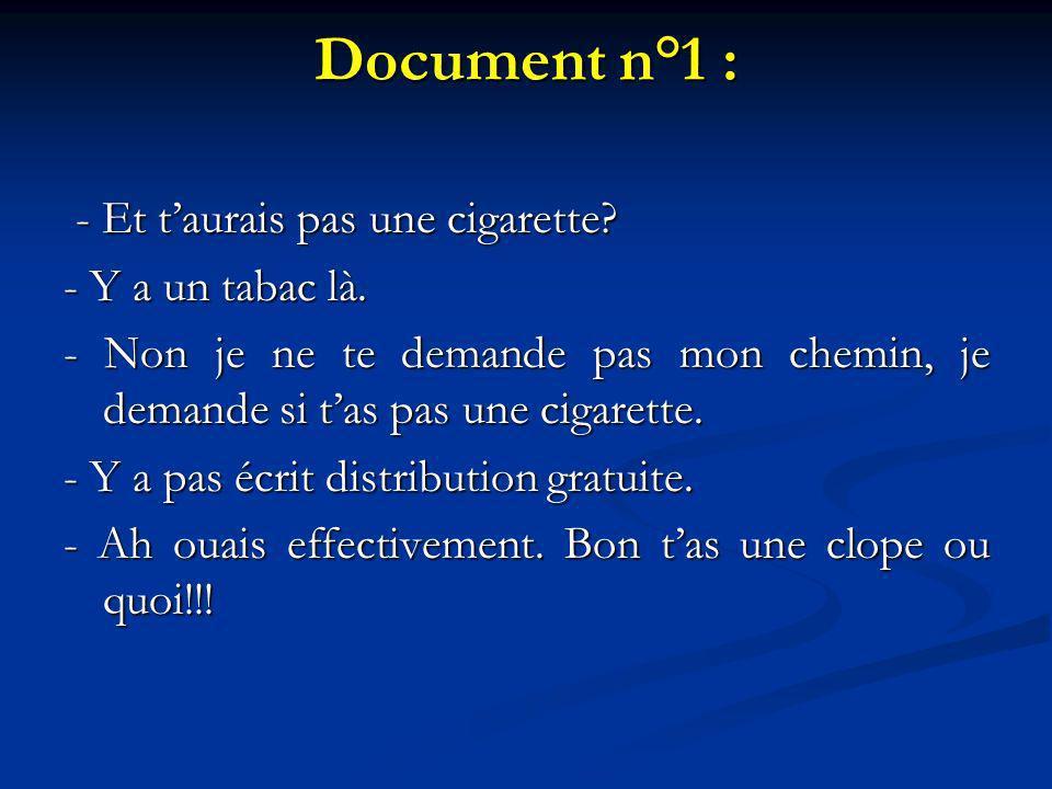 Document n°1 :