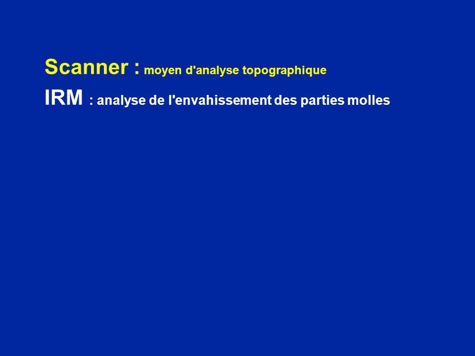 Scanner : moyen d analyse topographique