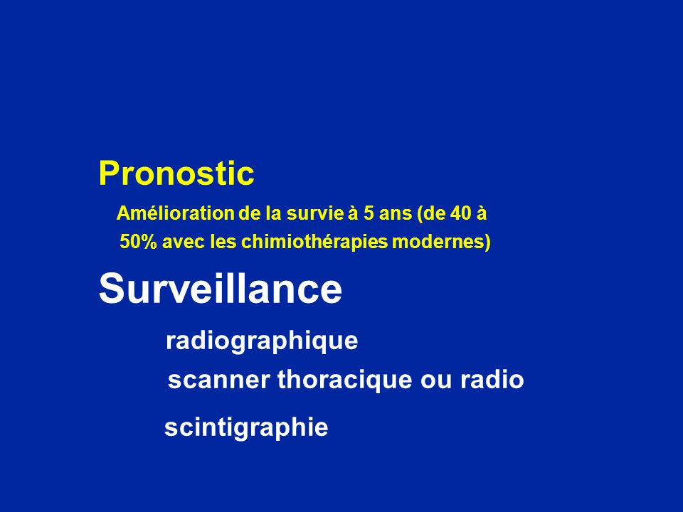 Surveillance Pronostic radiographique scanner thoracique ou radio