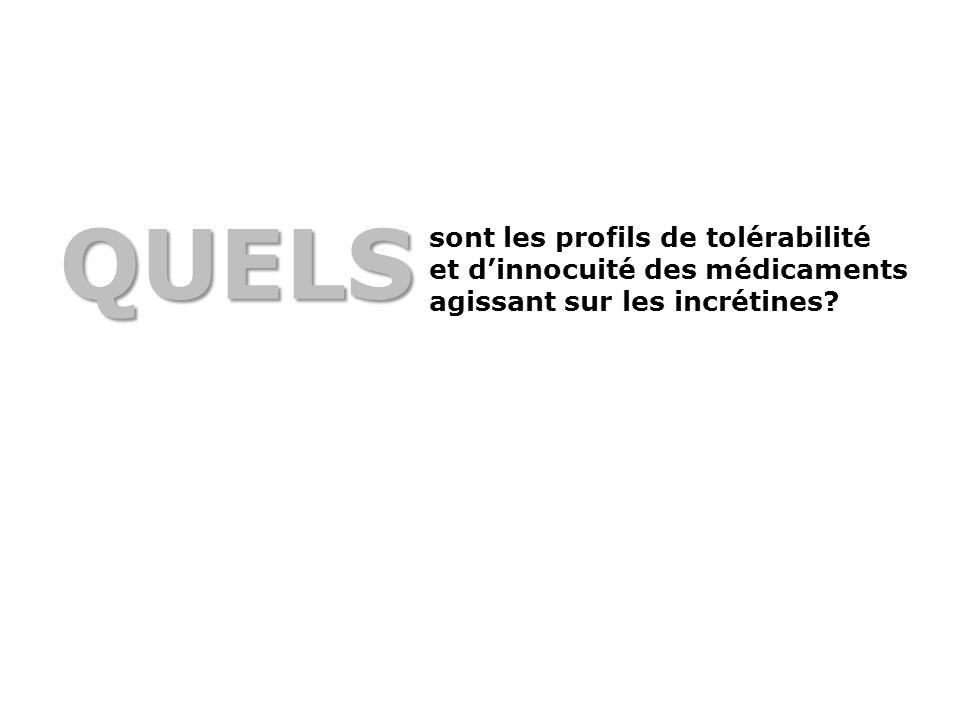 QUELS sont les profils de tolérabilité et d'innocuité des médicaments agissant sur les incrétines Notes pour l'animateur.