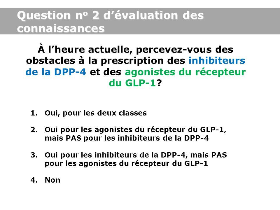 Question no 2 d'évaluation des connaissances
