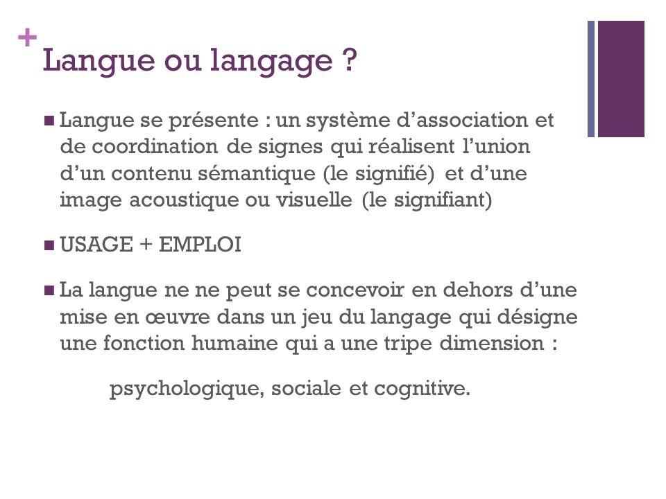 Langue ou langage