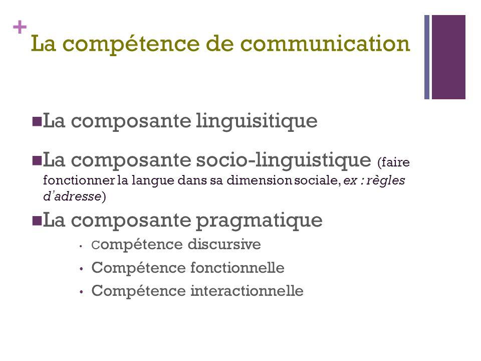 La compétence de communication