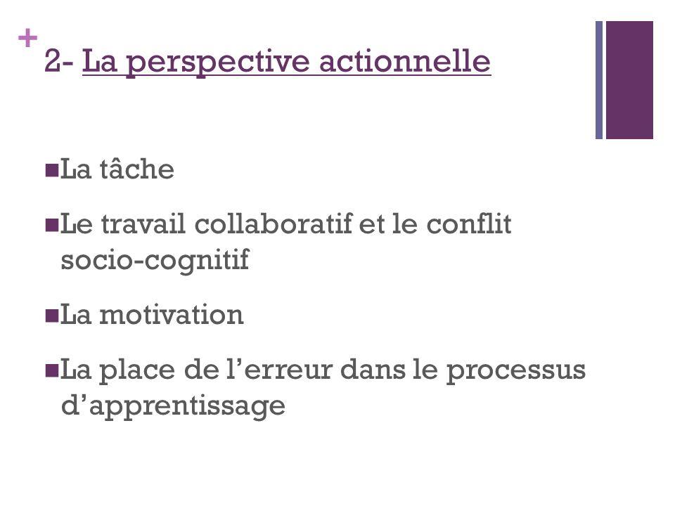 2- La perspective actionnelle