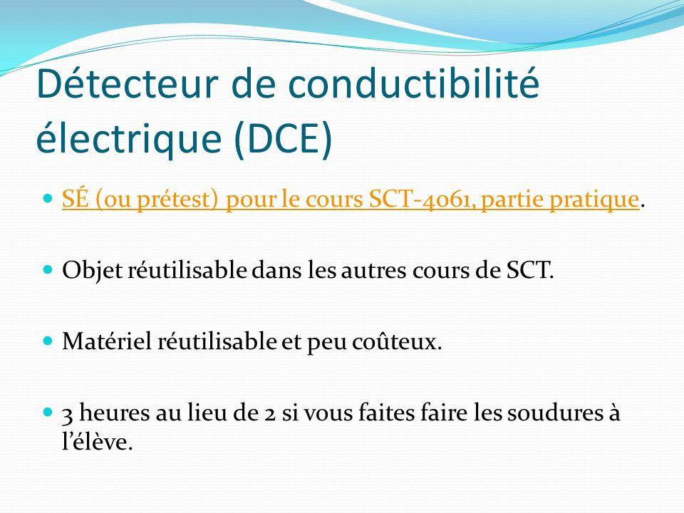 Détecteur de conductibilité électrique (DCE)
