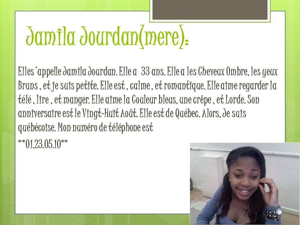 Jamila Jourdan(mere):
