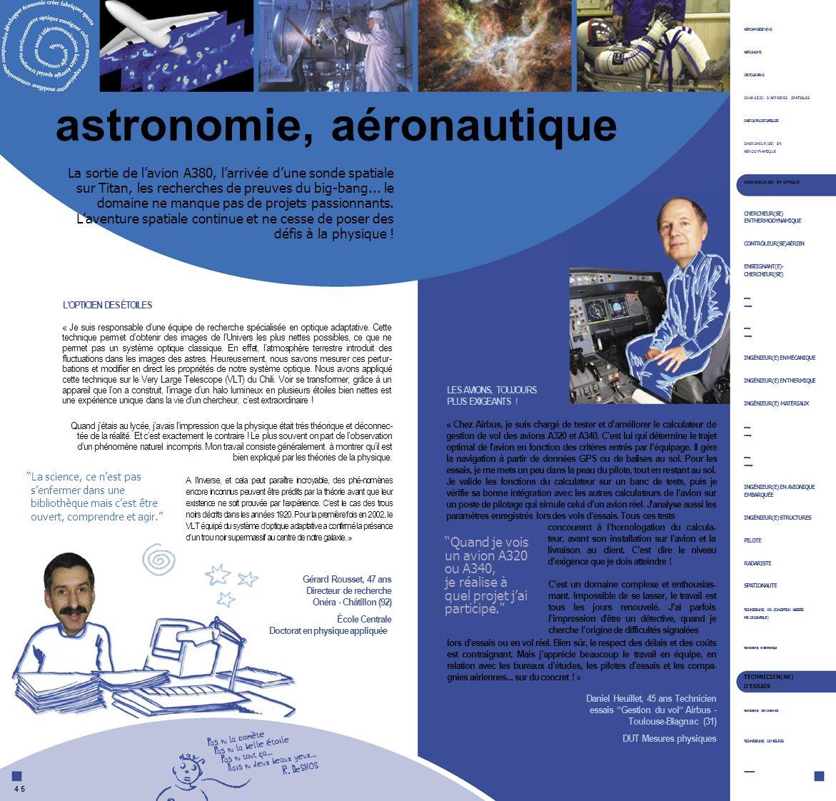 astronomie, aéronautique