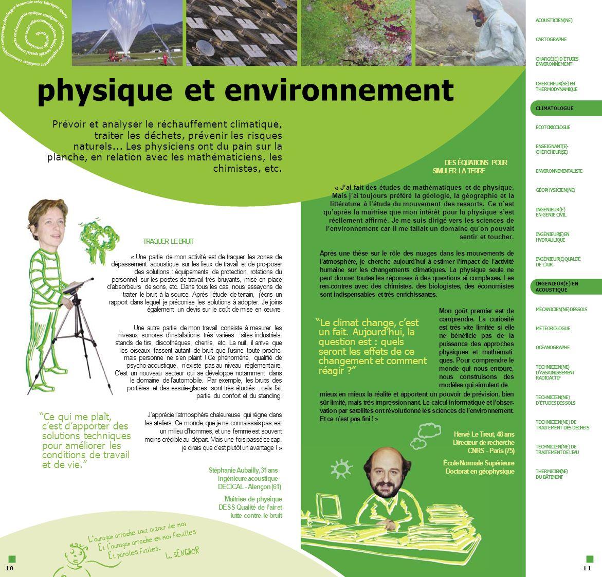physique et environnement