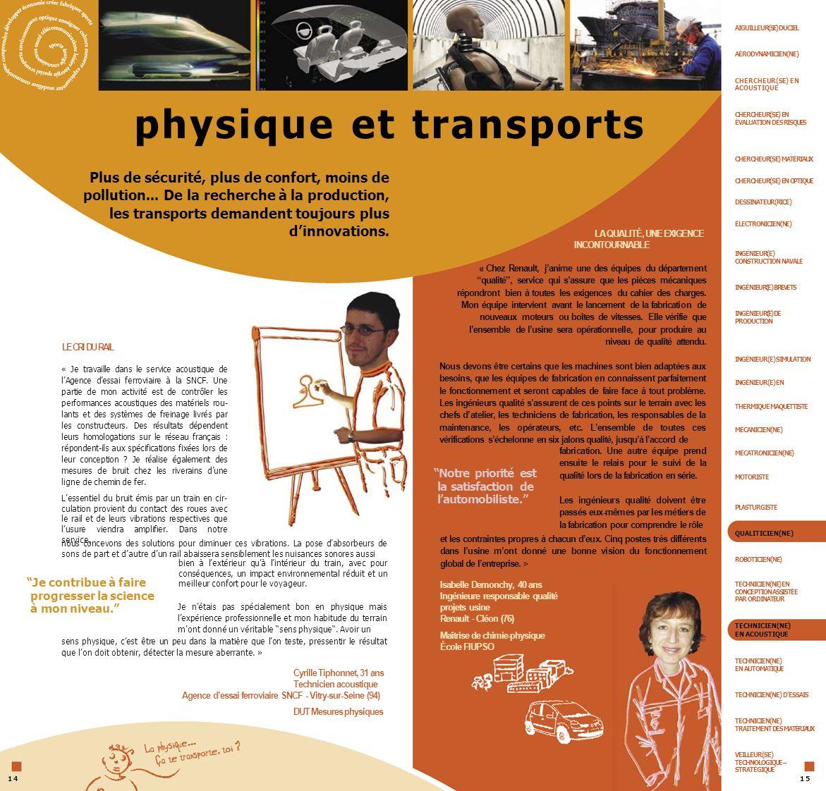 physique et transports