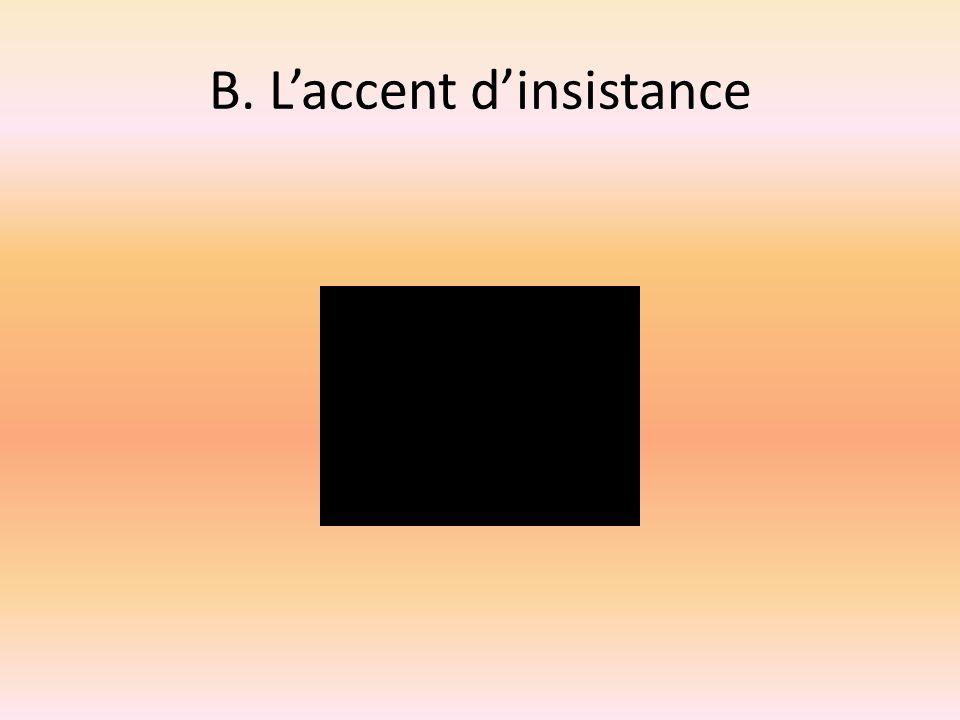 B. L'accent d'insistance