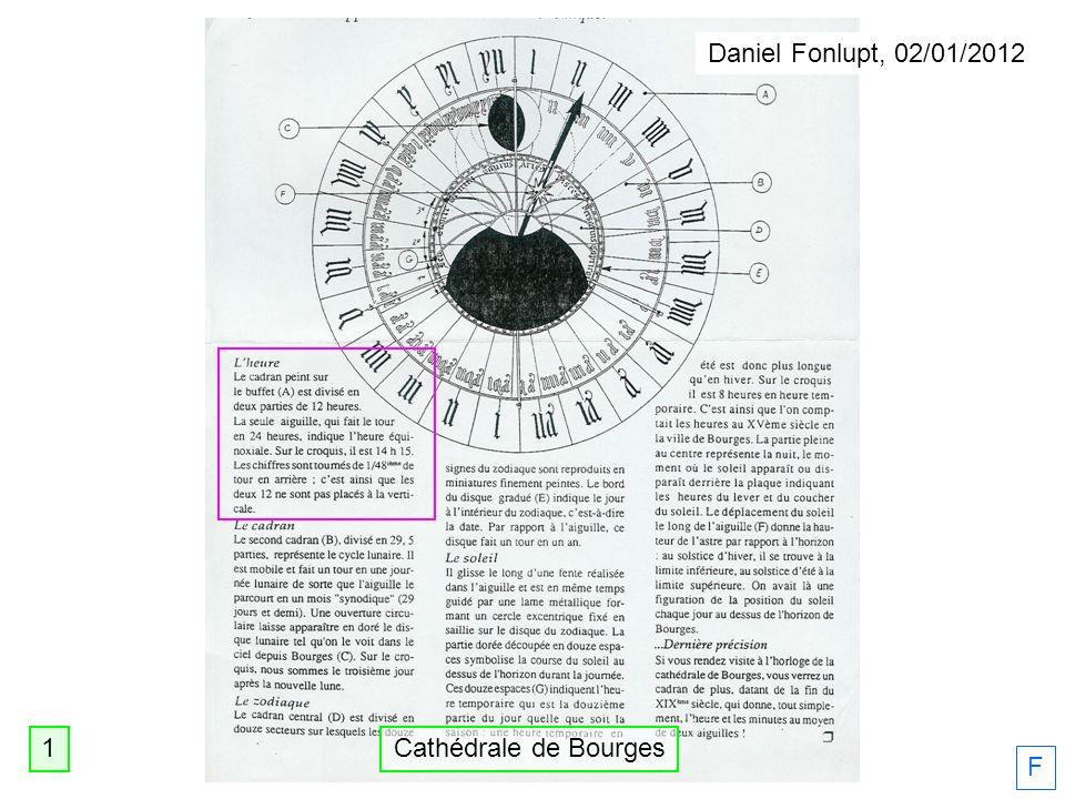 Daniel Fonlupt, 02/01/2012 1 Cathédrale de Bourges F