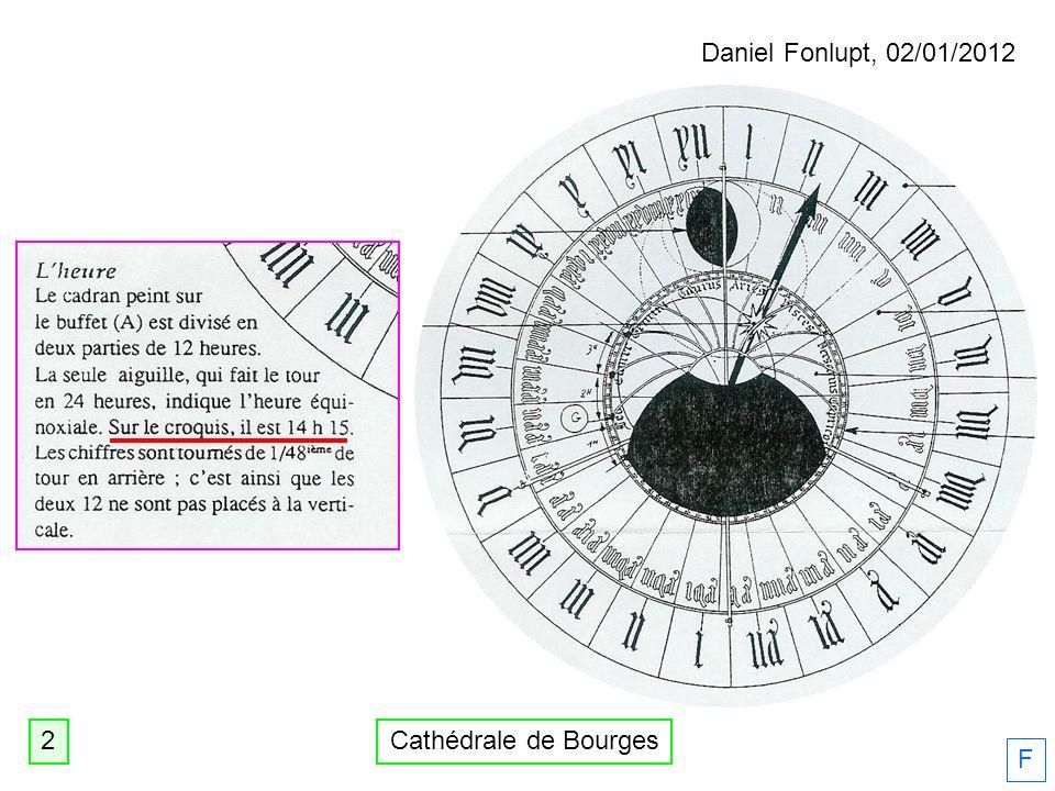 Daniel Fonlupt, 02/01/2012 2 Cathédrale de Bourges F