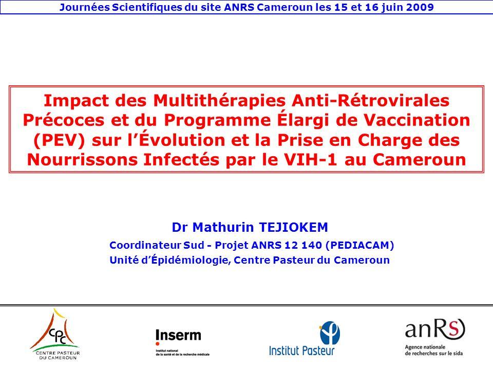 Journées Scientifiques du site ANRS Cameroun les 15 et 16 juin 2009