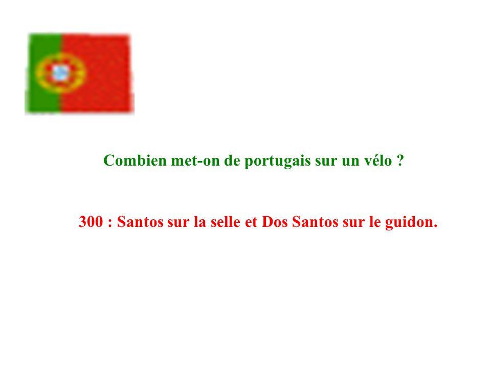 Combien met-on de portugais sur un vélo